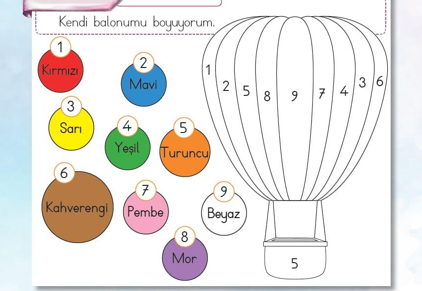 Uçan balon boyama etkinliği