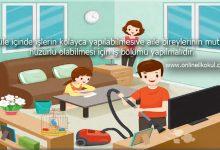 Ailenize evde hangi işlerde yardım ediyorsunuz?