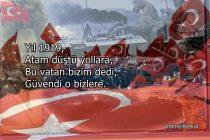 Yıl 1919, Atam düştü yollara şiiri