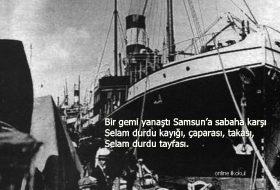 Bir gemi yanaştı Samsun'a sabaha karşı