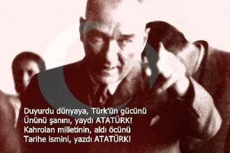 Duyurdu dünyaya, Türkün gücünü şiiri