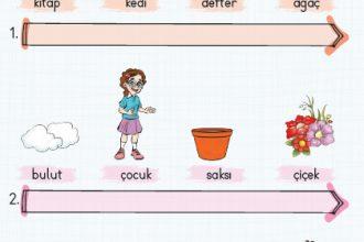 Görselleri verilen kelimeleri sözlük sırasına koyarak yeniden yazınız