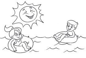 Güneş ve deniz boyama etkinliği