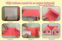 Kâğıt katlama sanatı ile ev yapımı (origami)