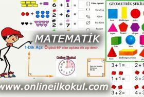 İlkokul 2 Matematik dersi ile ilgili online testler ve sınavlar