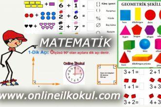 İlkokul 2 Matematik dersi geometri ve doğal sayılar ile ilgili online test 1
