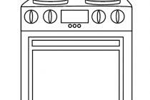 Mutfak eşyaları fırınlı ocak boyama