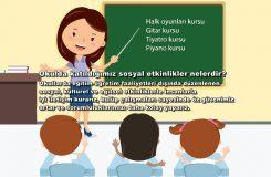 Okulda katıldığımız sosyal etkinlikler nelerdir?