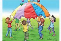 Paraşütle oynamak çok eğlenceli