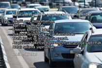 Sürücülerin uyması gereken kurallar nelerdir?