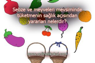 Sebze ve meyveleri mevsiminde tüketmenin sağlık açısından yararları nelerdir?