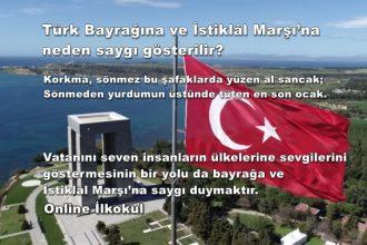 Türk Bayrağına ve İstiklâl Marşı'na neden saygı gösterilir?