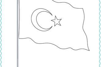 Türk bayrağını boyama etkinliği
