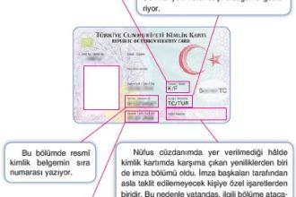 Resmî kimlik belgenizdeki bilgiler nelerdir?