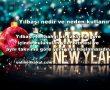 1 Ocak, yeni miladi yılın başlangıcı