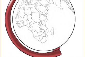Yerküre modelinde Türkiye'nin bulunduğu yeri kırmızıya boyayınız.