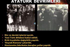 Atatürk'ün millî eğitim konusundaki düşünceleri