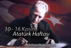10-16 Kasım Atatürk Haftası