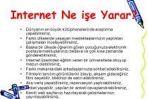 İnternet ne işe yarar?