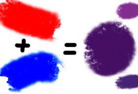 Mor rengi hangi renklerin karışımı ile elde edilir?