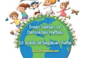 10 Aralık ile başlayan hafta (İnsan Hakları ve Demokrasi Haftası)