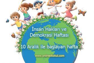 İnsan Hakları ve Demokrasi Haftası ile ilgili güzel sözler